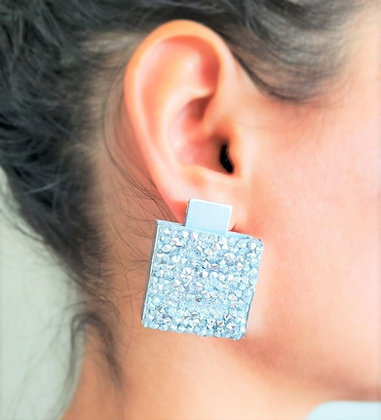 Handmade Silver Cube Earings
