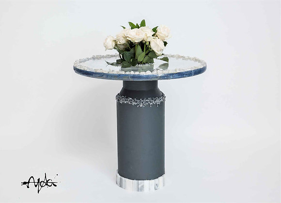 Round Table with Flower Pot