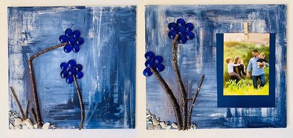 Frame-Blue Flower