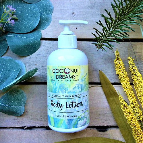 Lilly of the Valley (Coconut Milk& Aloe) Body Lotion / 8 oz
