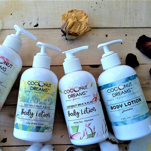 Jasmine (Coconut milk & Aloe) Body Lotion 8 oz