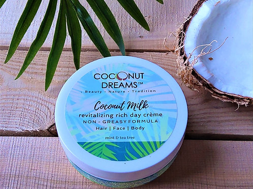 Clarifying Mint & Tea Tree Coconut Milk Face & Body Creme  (4 oz)