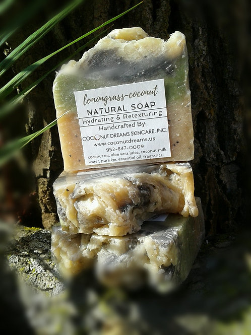 Coconut-Lemongrass Exfoliating Soap (Face, Hands & Body Soap)