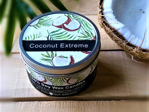 Coconut Extreme Hand-poured Soy Wax Candle/ 6 oz