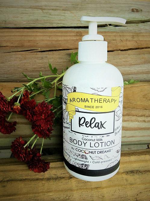 White Tea-Bergamot Aromatherapy (Coconut Milk Body Lotion)-7.5oz