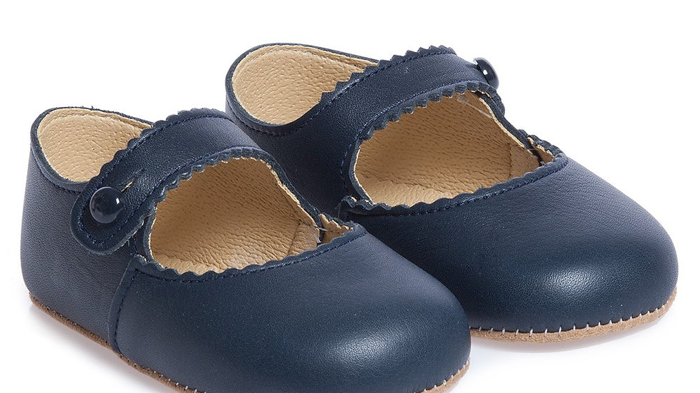 Early Days Blue Leather Pre-Walker Shoes