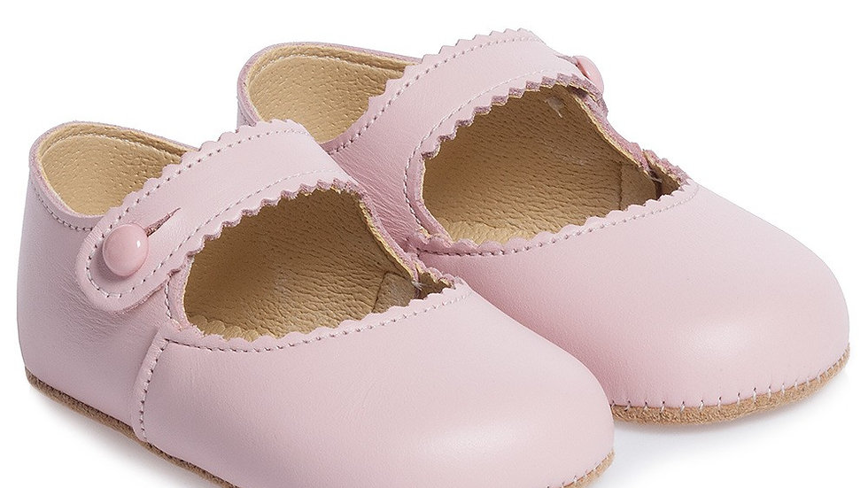 Early Days Pink Leather Pre-Walker Shoes