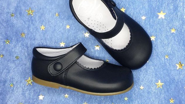 Papouelli Black Leather Mary Jane shoes