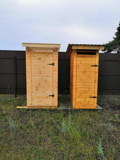 Деревянный туалет для дачи в Озёрах