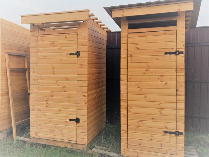Деревянный туалет в Кашире на заказ