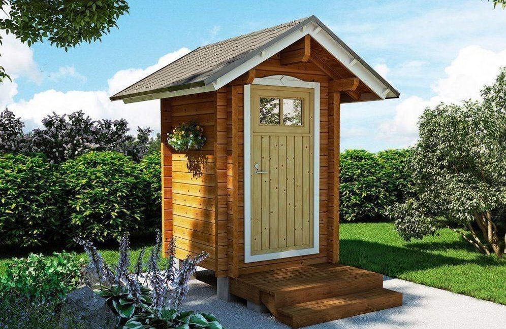 Деревянный туалет в Ступино с установкой