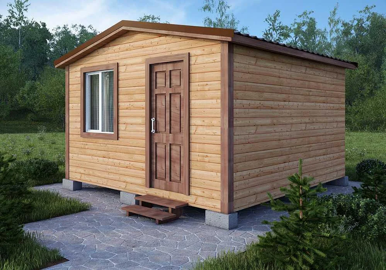 Компактный дачный домик в Озёрах: доставка, монтаж