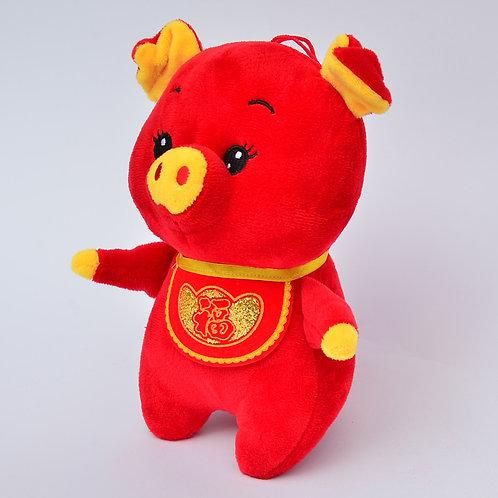 20cm元寶兜布偶豬(紅)
