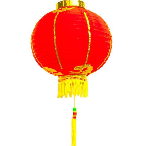 10吋金紅燈籠一對