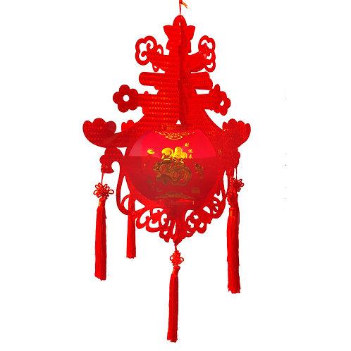 大雷射PVC大紅中國結春燈(移除)