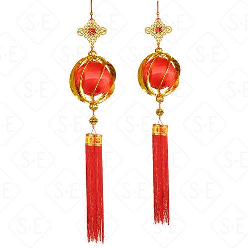 立體金絲球中國結吊飾 | 勝億紙藝品行春節吊飾批發零售