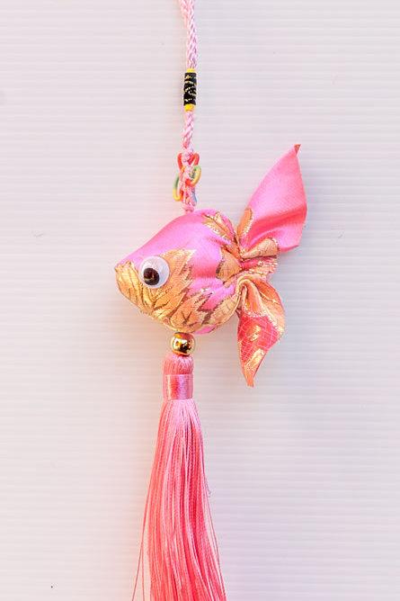 綢緞小金魚吊飾