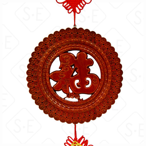 開運吉祥樟木中國結吊飾   勝億紙藝品行祝福吊飾批發零售