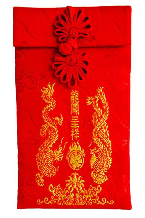 絲綢紅包袋(龍鳳呈祥)