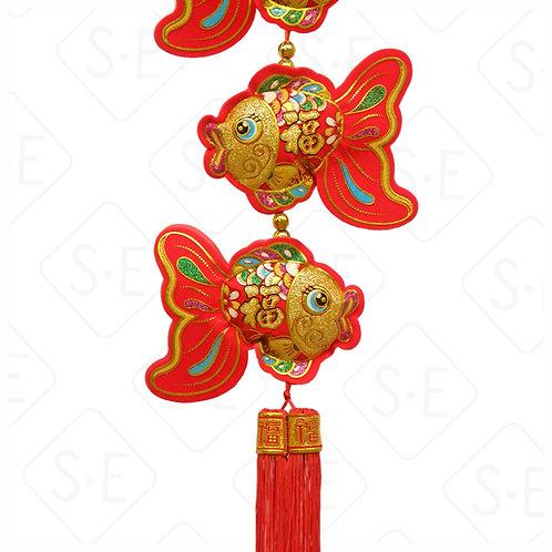立體金魚吊掛飾 | 勝億紙藝品行春節吊飾批發零售