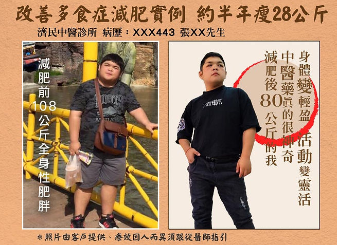 張先生中醫減肥瘦28公斤心得分享