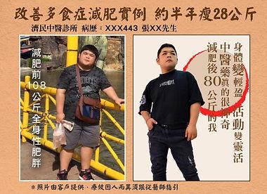 濟民中醫瘦身真人減肥前後照