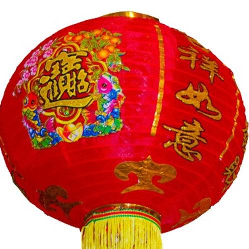 綢布圓燈籠(彩)*對-多種圖款尺寸