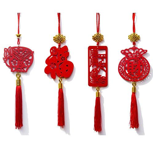中國結木質吊掛飾-加大款
