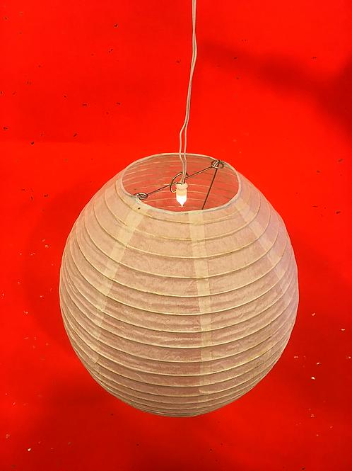 10寸米白色彩繪雞蛋燈