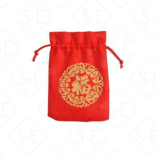 絲綢福字小福袋 | 勝億紙藝品行彩條拉條批發零售
