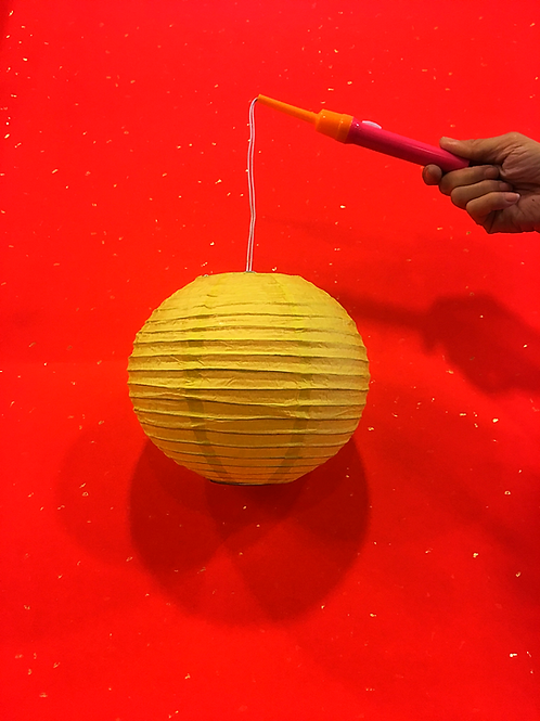 黃色DIY彩繪燈籠