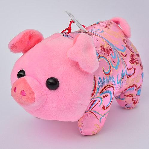 20cm牡丹鳳尾草布偶豬(粉紅)