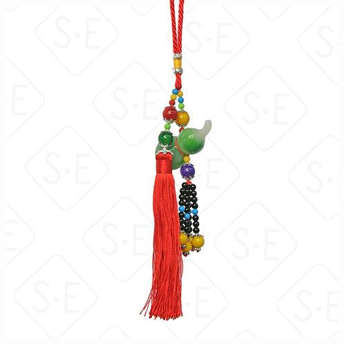 仿玉七彩葫蘆小吊飾