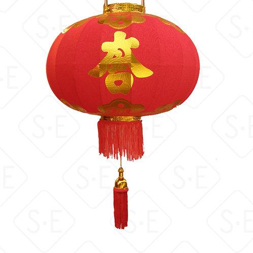室內外絨面緹花大紅燈籠- | 勝億紙藝品行燈籠燈飾批發零售