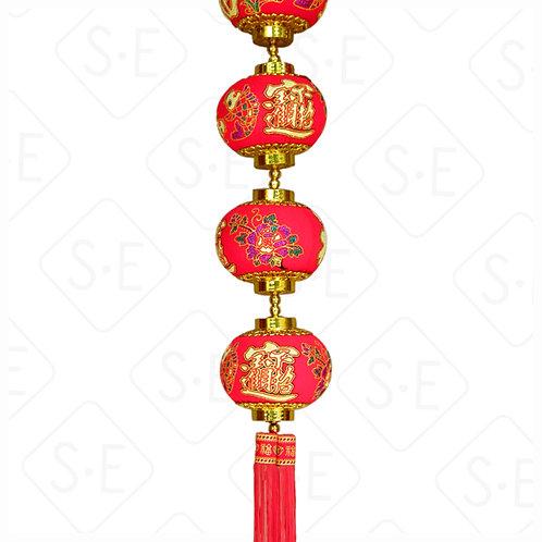 金紅燈籠吊掛飾 | 勝億紙藝品行春節吊飾批發零售