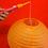橙色DIY彩繪燈籠