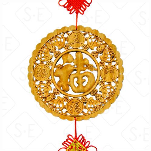 開運吉祥樟木中國結吊飾 | 勝億紙藝品行祝福吊飾批發零售