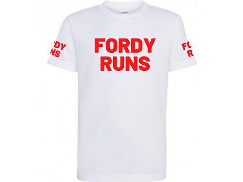 FORDY RUNS LONG RUN TECH TOP UNISEX RED