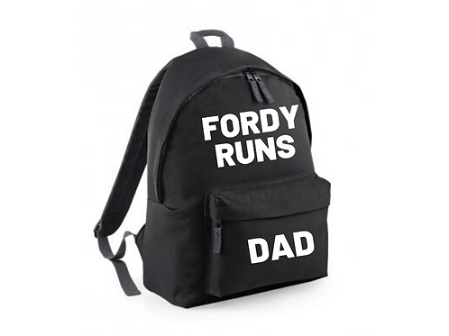 FORDY RUNS Personalised Backpack