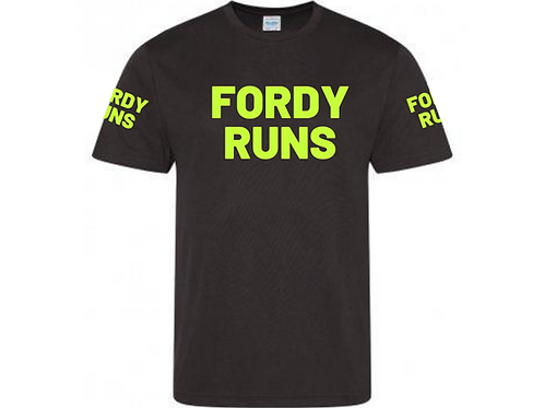 FORDY RUNS LONG RUN TECH TOP UNISEX FLURO YELLOW