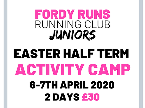 JUNIOR CAMP 2 DAYS 6 & 7TH APRIL 2020