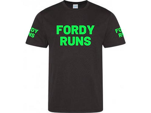 FORDY RUNS LONG RUN TECH TOP UNISEX GREEN