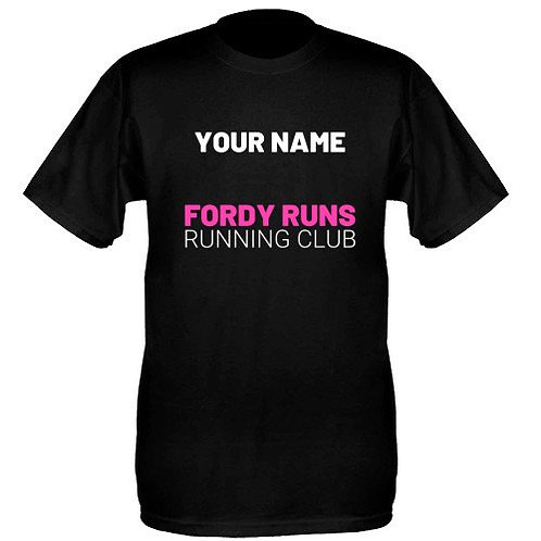 PERSONALISED CLUB TECH TOP UNISEX PINK/WHITE LOGO BACK