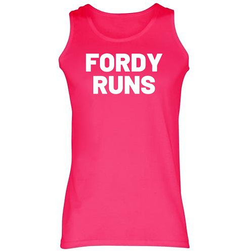 FORDY RUNS LADIES VEST WHITE