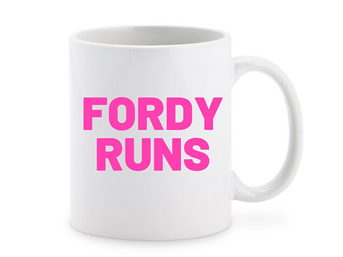 FORDY RUNS PERSONALISED MUG
