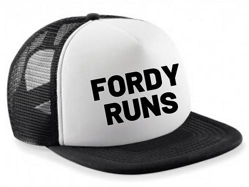 FORDY RUNS SNAP BACK TRUCKER HAT KIDS BLACK