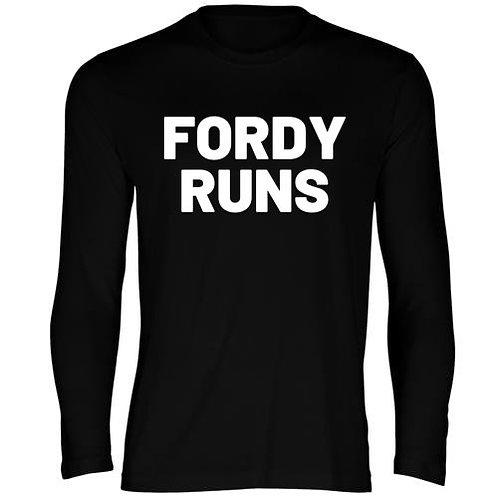 FORDY RUNS LADIES LONG SLEEVE TECH TOP