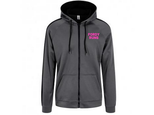 FORDY RUNS CONTRAST PINK HOODIE UNISEX