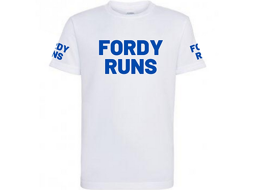 FORDY RUNS LONG RUN TECH TOP UNISEX NAVY BLUE