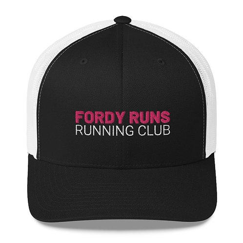 FORDY RUNS Running Club Trucker Cap